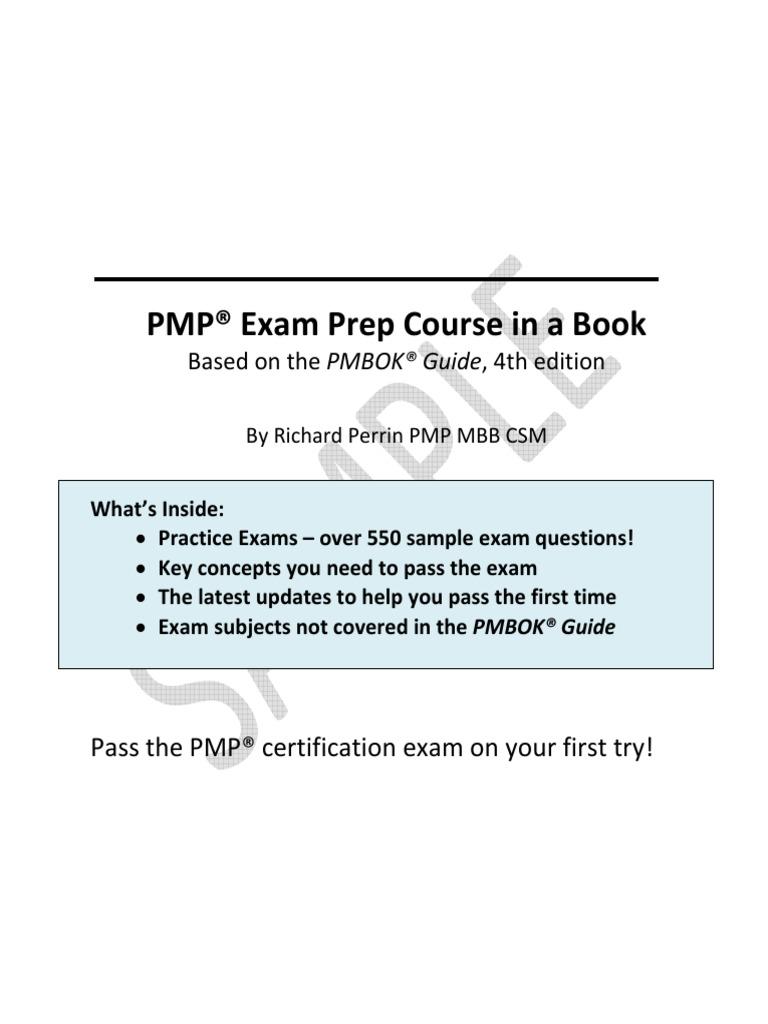 Edwel Pmp Exam Preparation Course Ebook Excerpt Project Management