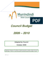 Murrindindi Shire Council Budget 2009-10 Final