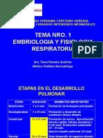 Tema Nro. 1 Embriología y Fisiología Respiratoria (2)
