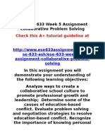 ASH ESE 633 Week 5 Assignment Collaborative Problem Solving