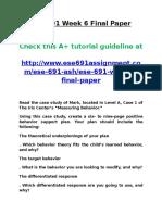 ESE 691 Week 6 Final Paper
