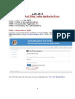 Screen Shots of Filling Application Form