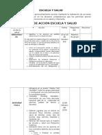 Planeacion de Escuela y Salud
