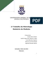 1º Trabalho de Metrologia - Final