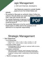 150860602 Starbucks Strategic Management 1