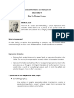 Impression Formation and Management