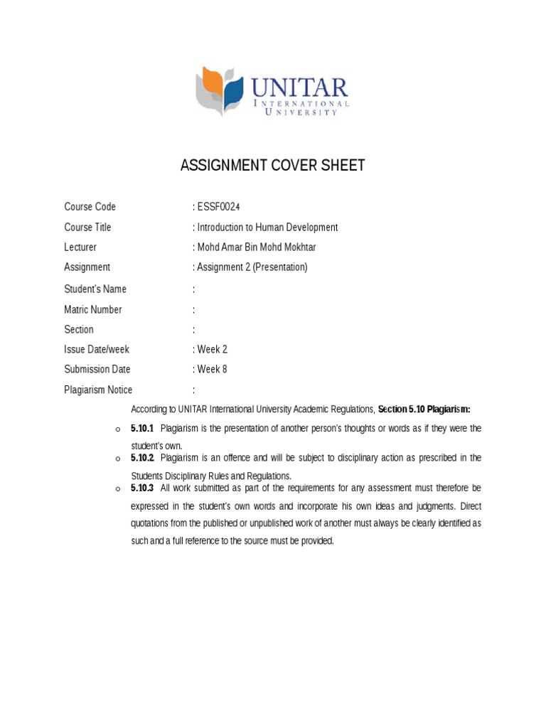 Assignment 2 With Cover Page Submission Form Docx