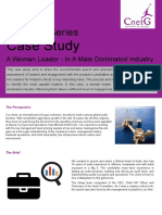 Case Study - A Woman Leader in a Male-Dominated Industry