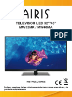 Manual Airis televisor Mw40ma