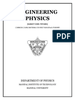 Engineering Physics PHY 1001