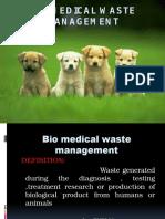 Bio Medical Waste Manage