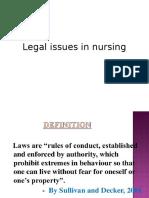 Legal Issues in Nursings