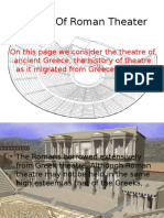 History of Roman Theater