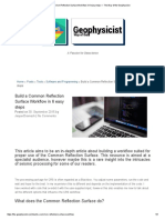 Build a Common Reflection Surface Workflow in 6 Easy Steps — the Way of the Geophysicist