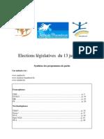 Elections législatives  du 13 juin 2010
