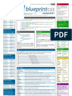 Blueprint CSS framework version 0.9.1 cheat sheet