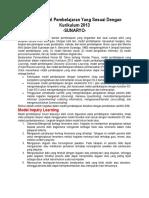 Model Pembelajaran 2013