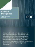 The Sosial Sciene Disciplines