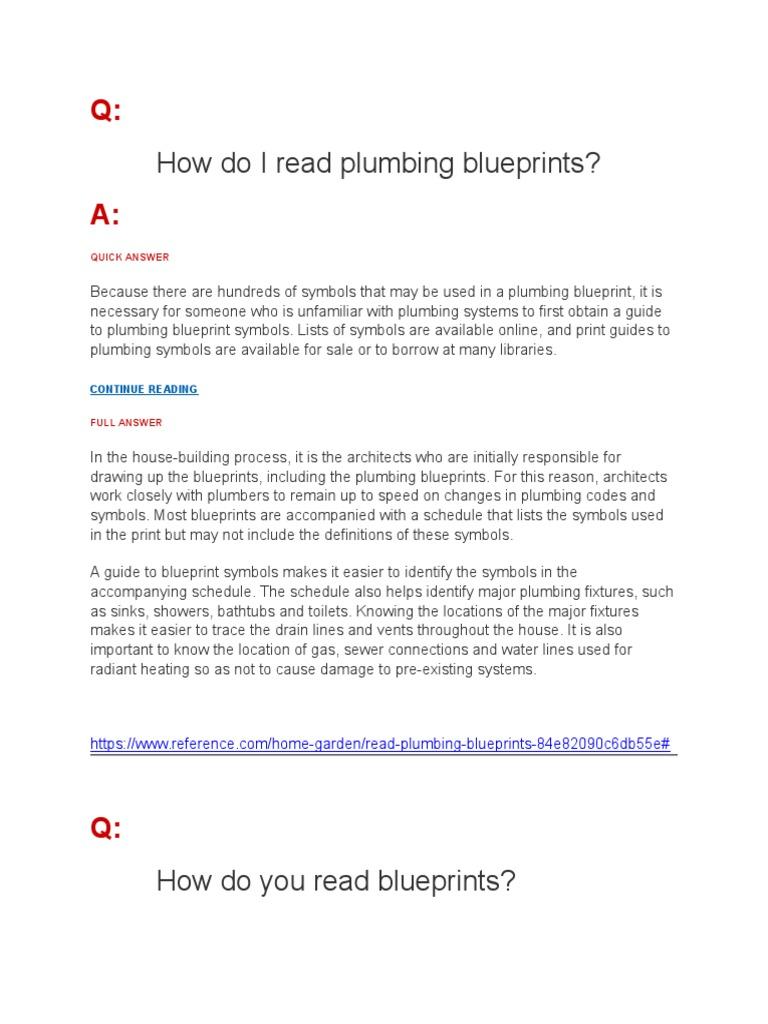 Plumbing Plan Tips Technical Drawing Plumbing