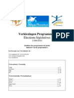 Verkiezingen Programmas