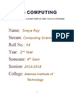 Fog Computing Sreya Roy