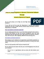 Jobs for Design Engineers in Siemens Teamcenter Software Through Industry Experience Program