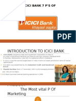 service marketing of icici bank