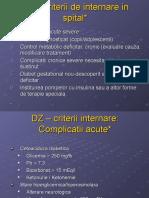 Criterii Internare DZ