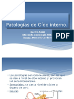 Patologías de Oído Interno