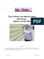 10 Items After Crisis