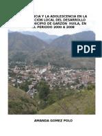 La infancia y adolescencia en la planeación local del desarrollo del municipio de Garzón Huila en el periodo 2000-2008