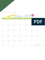 June 2010 Printable Calendar - TomKat Studio