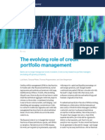 The Evolving Role of Credit Portfolio Management