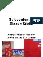 Salt Content of Biscuit Sticks