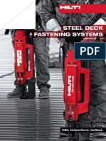 Product Technical Guide Supplement for Steel Deck Fastening Systems Technical Information ASSET DOC LOC 2524887