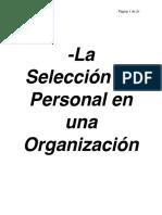 La Selección Personal en una organización