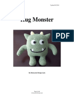 Hug Monster Crochet Pattern