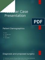 Vascular Case Presentation