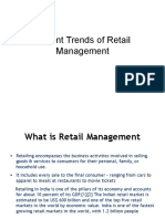 Recent Trends of Retail Management (2)