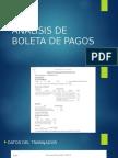 Análisis de Boleta de Pagos
