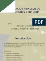 Clasificacion Principal de Los Minerales y Sus Usos