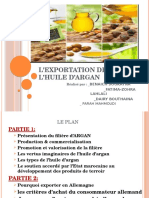 L'Exportation de l'Huile d'Argan (3)
