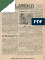 Claridad 53 Bogota 1928