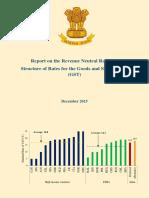 Report Revenue Neutral Rate