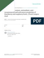 Rubus Anthocyanins Cbf