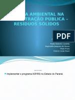 Agenda Ambiental Na Administração Pública – Resíduos Sólidos