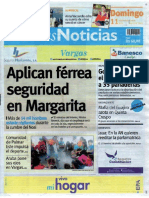 Últimas Noticias Vargas domingo 11 septiembre  de  2016