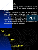 Demand Forecast In economics
