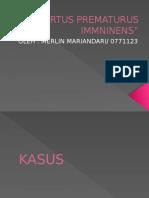 PARTUS PREMATURUS IMMNINENS