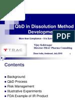 QbD in Dissolution Method Development_Kshirsagar